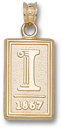 "Illinois Fighting Illini ""I 1867"" Pendant - 10KT Gold Jewelry"