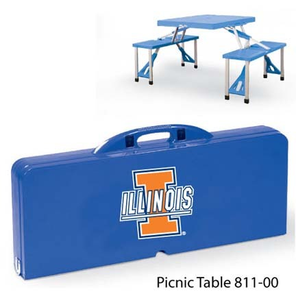Illinois Fighting Illini Portable Folding Table and Seats