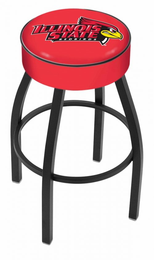 "Illinois State Redbirds (L8B1) 25"" Tall Logo Bar Stool by Holland Bar Stool Company (with Single Ring Swivel Black Solid Welded Base)"