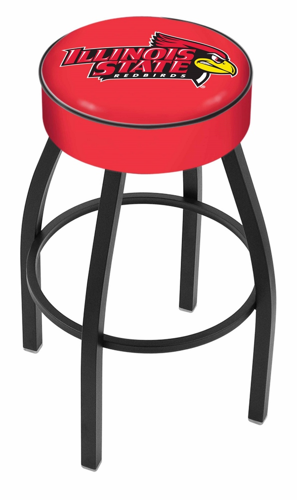 """Illinois State Redbirds (L8B1) 25"""" Tall Logo Bar Stool by Holland Bar Stool Company (with Single Ring Swivel Black Solid Welded Base)"""