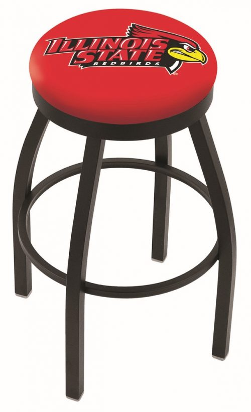 "Illinois State Redbirds (L8B2B) 25"" Tall Logo Bar Stool by Holland Bar Stool Company (with Single Ring Swivel Black Solid Welded Base)"