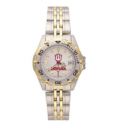 """Indiana Hoosiers Athletic """"IU"""" Women's All Star Watch with Bracelet Strap"""
