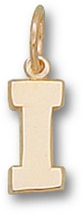 "Indiana Hoosiers Block ""I"" 3/8"" Charm - 14KT Gold Jewelry"