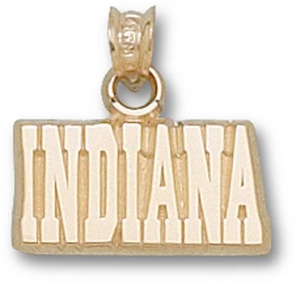 "Indiana Hoosiers ""Indiana"" 3/8"" Pendant - 10KT Gold Jewelry"