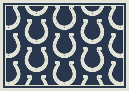 """Indianapolis Colts 3' 10"""" x 5' 4"""" Team Repeat Area Rug (Blue)"""