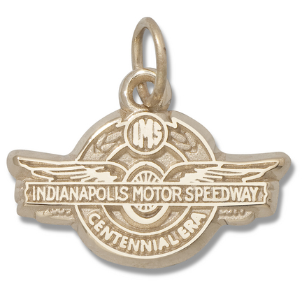 "Indianapolis Motor Speedway 3/8"" Centennial Era Logo Charm - 10KT Gold Jewelry"