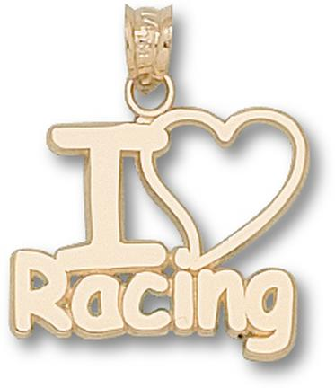 "Indianapolis Motor Speedway ""I Love Racing"" Pendant - 10KT Gold Jewelry"