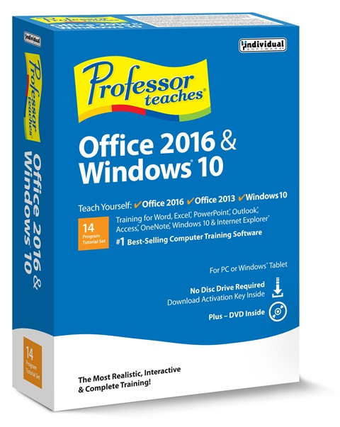 Individual Software EK5-OWX Professor Teaches Office 2016 & Windows 10 - 5 Keys