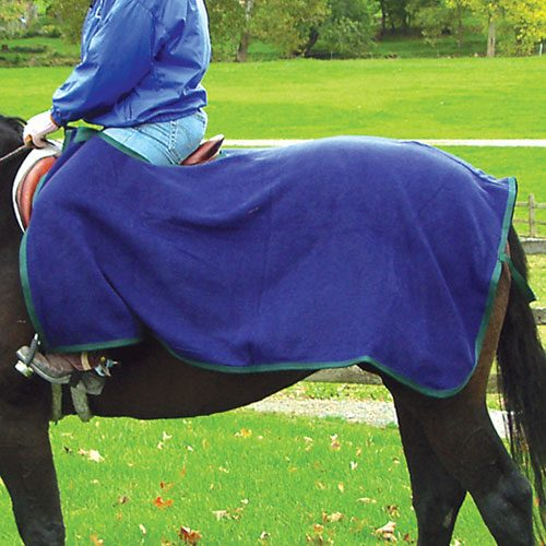 Intrepid International 223090NY Fleece Quarter Sheet - Navy & Hunter Green