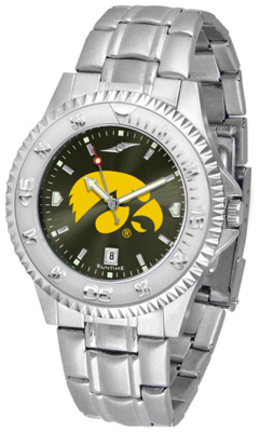 Iowa Hawkeyes Competitor AnoChrome Men's Watch with Steel Band