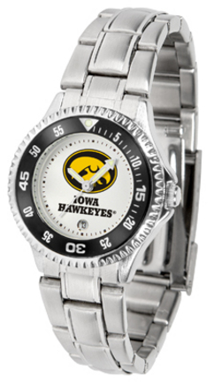 Iowa Hawkeyes Competitor Ladies Watch with Steel Band