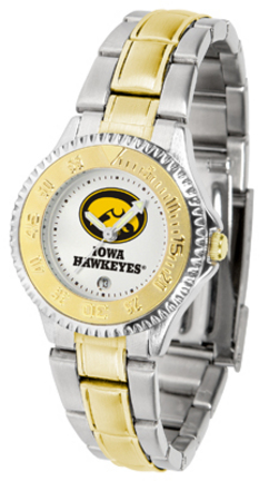 Iowa Hawkeyes Competitor Ladies Watch with Two-Tone Band