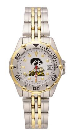 "Iowa Hawkeyes ""Iowa"" All Star Watch with Stainless Steel Band - Women's"