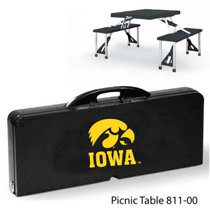 Iowa Hawkeyes Portable Folding Table and Seats