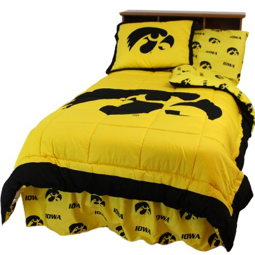 Iowa Hawkeyes Reversible Comforter Set (Queen)