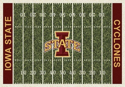 "Iowa State Cyclones 3' 10"" x 5' 4"" Home Field Area Rug"