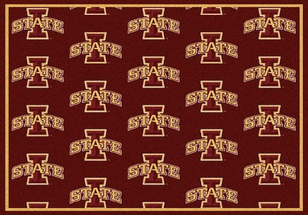 "Iowa State Cyclones 3' 10"" x 5' 4"" Team Repeat Area Rug"
