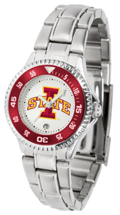 Iowa State Cyclones Competitor Ladies Watch with Steel Band
