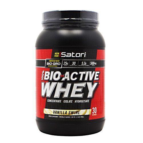 Isatori 2520140 100 Percent Bio-Active Whey Protein Concentrate Bio-Gro Supplement Vanilla Swirl - 30 Serving