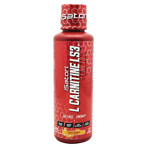 Isatori 2520150 L-Carnitine LS3 Plus Energy Peach Mango - 32 Per Serving