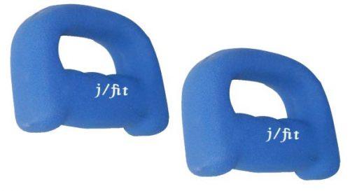 J Fit 20-5257-2 Neoprene Grip Weight 5lb Pair - Blue