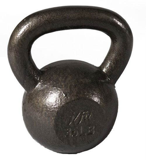 J Fit 20-6135 Cast Iron Kettlebell - 35 lbs