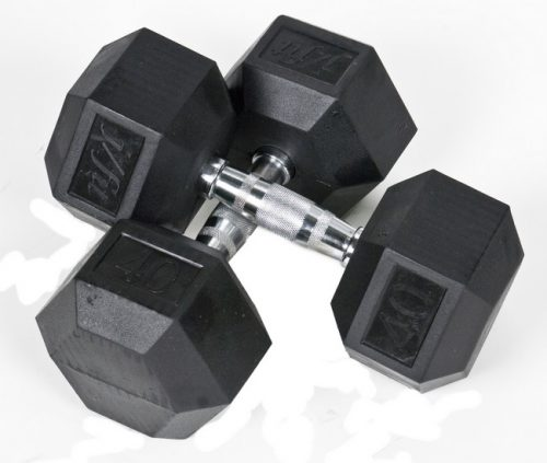J Fit 20-6540-2 Rubber Dumbbells 40lb - Pair