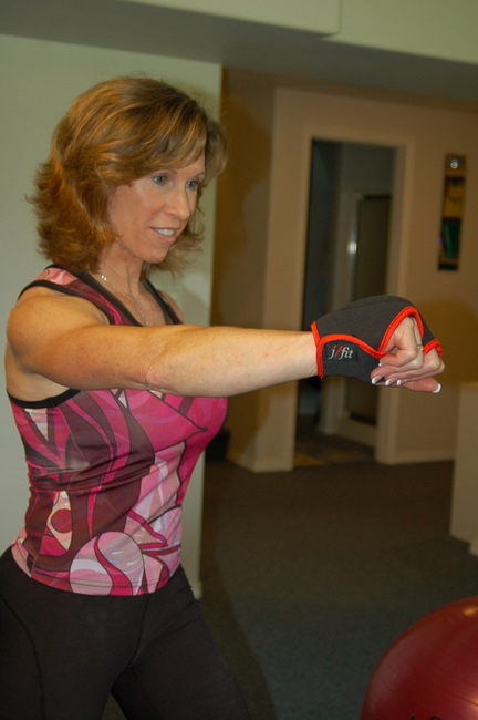 J Fit 20-7800 Weighted Gloves 1lb each