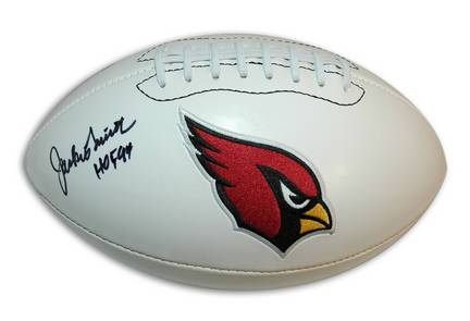 "Jackie Smith Autographed Cardinals White Panel Football Inscribed ""HOF 94"