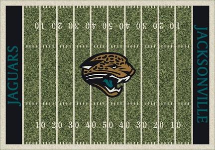"""Jacksonville Jaguars 3' 10"""" x 5' 4"""" Home Field Area Rug"""