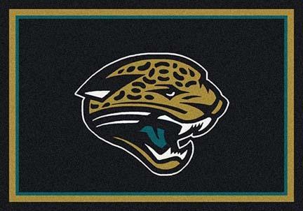 """Jacksonville Jaguars 3' 10"""" x 5' 4"""" Team Spirit Area Rug (Black)"""
