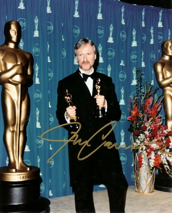 "James Cameron Autographed Oscar 8"" x 10"" Photograph (Unframed)"