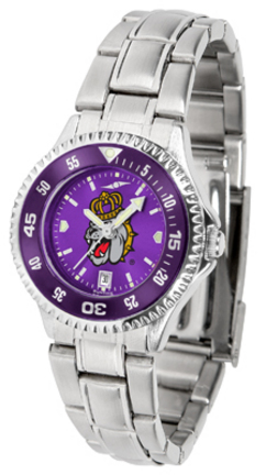 James Madison Dukes Competitor AnoChrome Ladies Watch with Steel Band and Colored Bezel