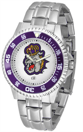 James Madison Dukes Competitor Watch with a Metal Band