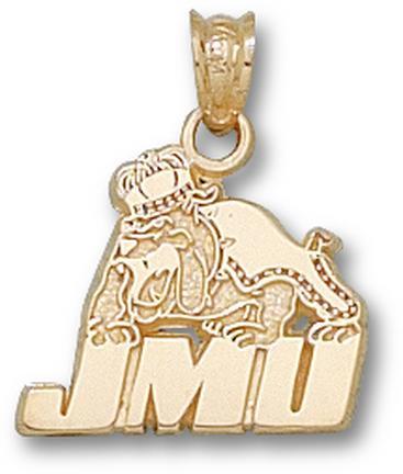 """James Madison Dukes """"JMU Bulldog"""" Pendant - 10KT Gold Jewelry"""