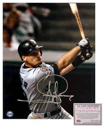 "Jay Buhner Seattle Mariners MLB Autographed ""Swinging"" 16"" x 20"" Photograph (Unframed)"