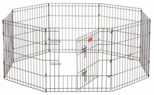 Jewett Cameron Company ZW 11624 Exercise Pen with Stakes Black - 24 in.