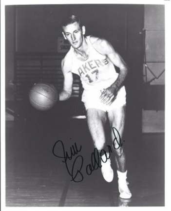 "Jim Pollard Autographed Lakers 8"" x 10"" Photograph Hall of Famer (Unframed)"