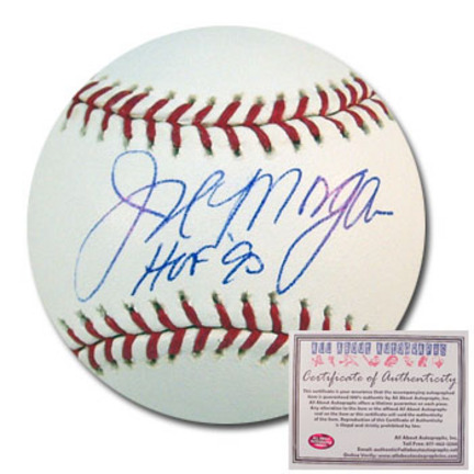 "Joe Morgan Autographed Rawlings MLB Baseball with ""HOF 90"" Inscription"