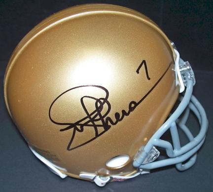 Joe Theismann Autographed Notre Dame Fighting Irish Mini Helmet