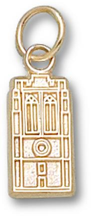 "John Carroll Blue Streaks ""Grasselli Tower"" 1/2"" Charm - 14KT Gold Jewelry"
