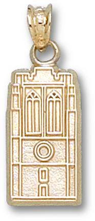 "John Carroll Blue Streaks ""Grasselli Tower"" 5/8"" Pendant - 10KT Gold Jewelry"