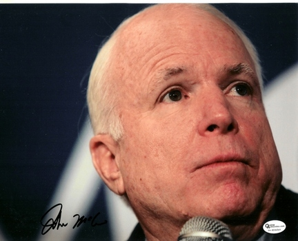 "John McCain Autographed 8"" x 10"" Photograph (Unframed)"