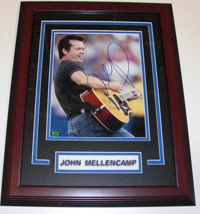 "John Mellencamp Autographed 8"" x 10"" Custom Framed Photograph"