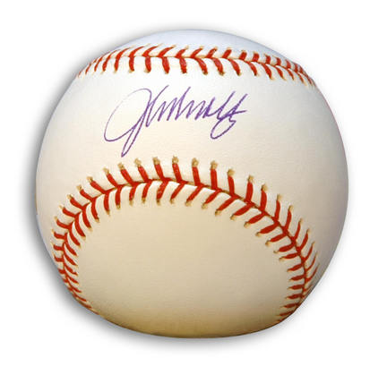 John Smoltz Autographed Major League Baseball