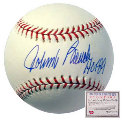 "Johnny Bench Cincinnati Reds Autographed Rawlings MLB Baseball with ""HOF 89"" Inscription"