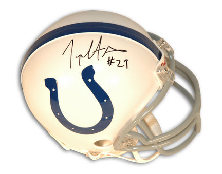 Joseph Addai Indianapolis Colts Autographed Riddell Mini Football Helmet