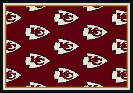 "Kansas City Chiefs 3' 10"" x 5' 4"" Team Repeat Area Rug (Red)"