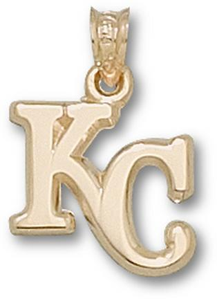 "Kansas City Royals ""KC"" 1/2"" Pendant - 10KT Gold Jewelry"