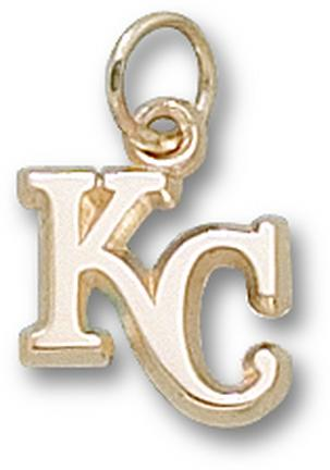 "Kansas City Royals ""KC"" 3/8"" Charm - 10KT Gold Jewelry"